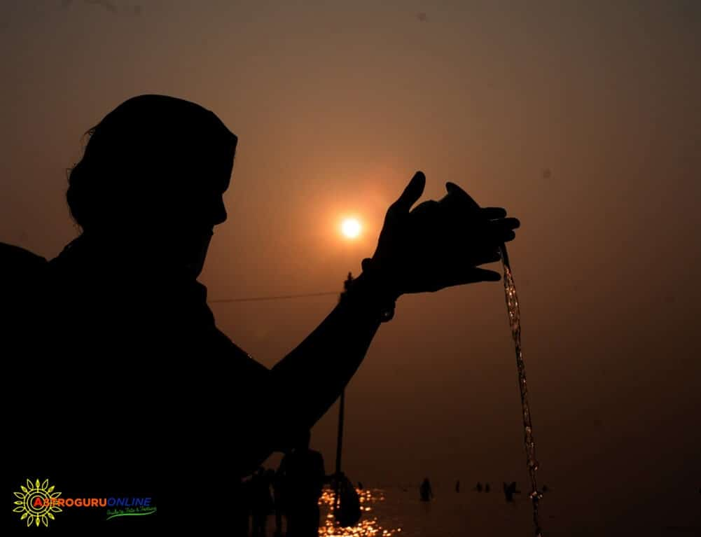 How to offer water to Sun God (Lord Surya)