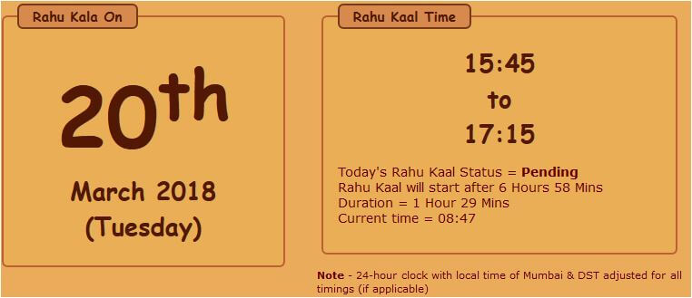 Rahu Kaal – All About Rahu Kalam You Wanted to Know
